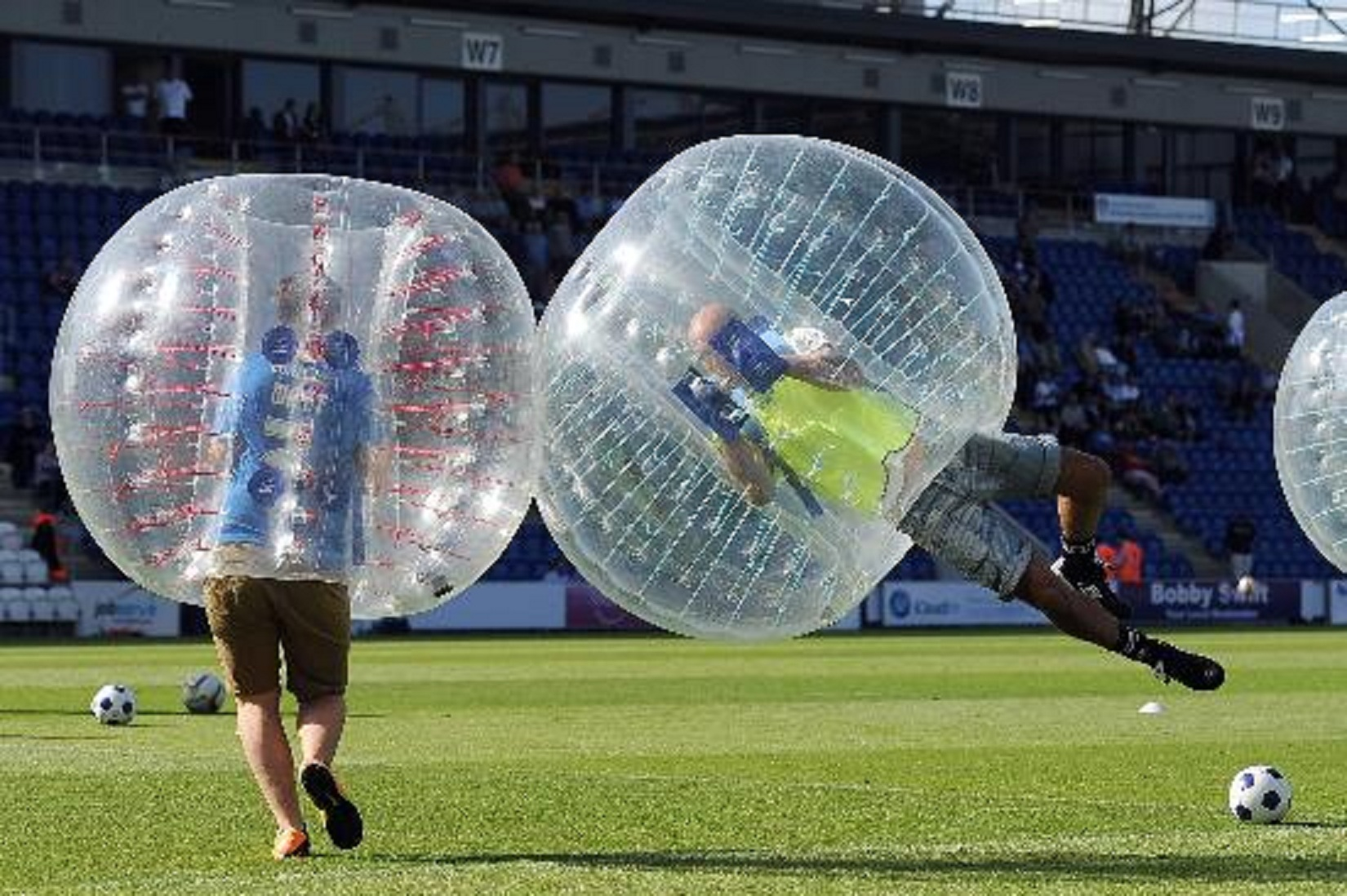 bubble soccer game